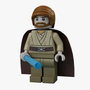 Lego Obi Wan 3d model