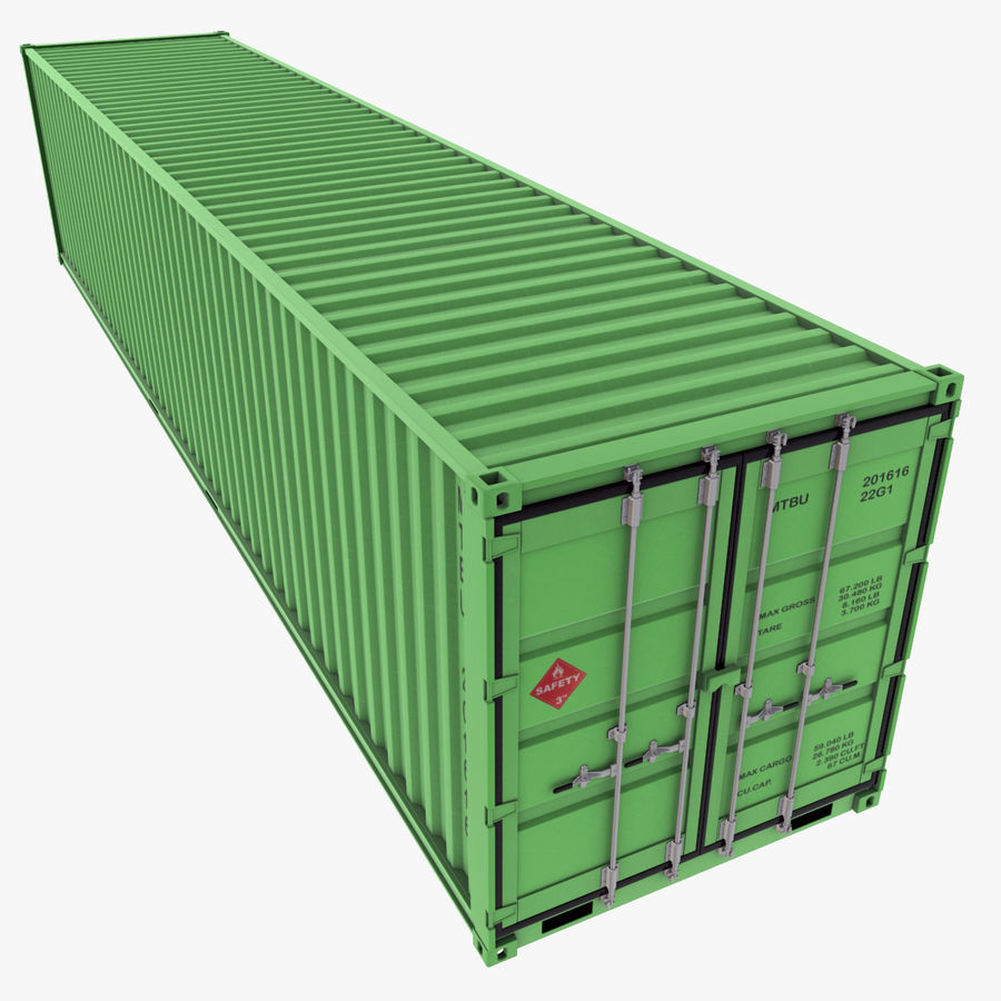 40 Feet Container royalty-free 3d model - Preview no. 1