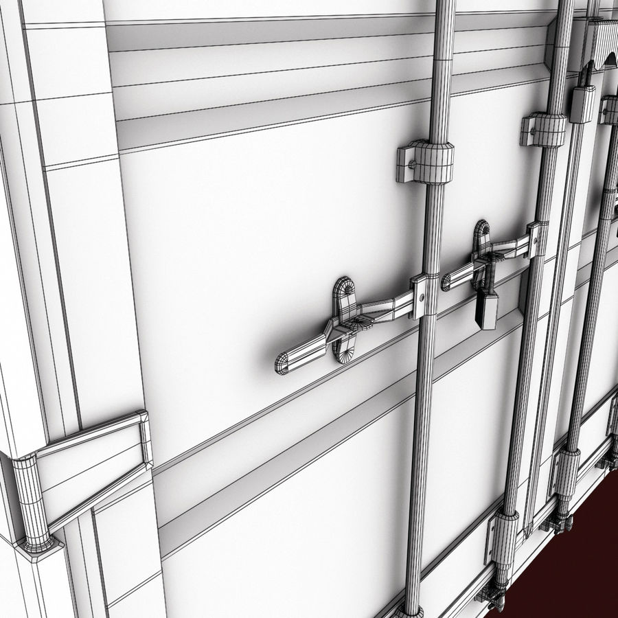 40 Feet Container royalty-free 3d model - Preview no. 15