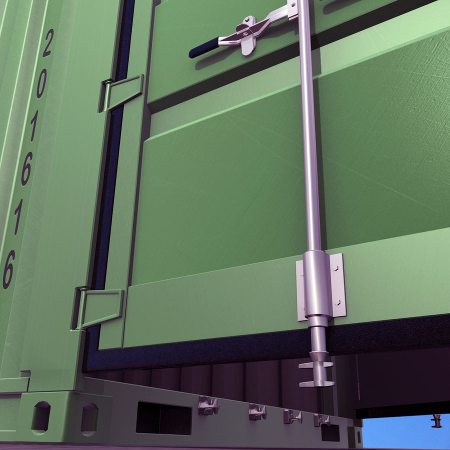 40 Feet Container royalty-free 3d model - Preview no. 12