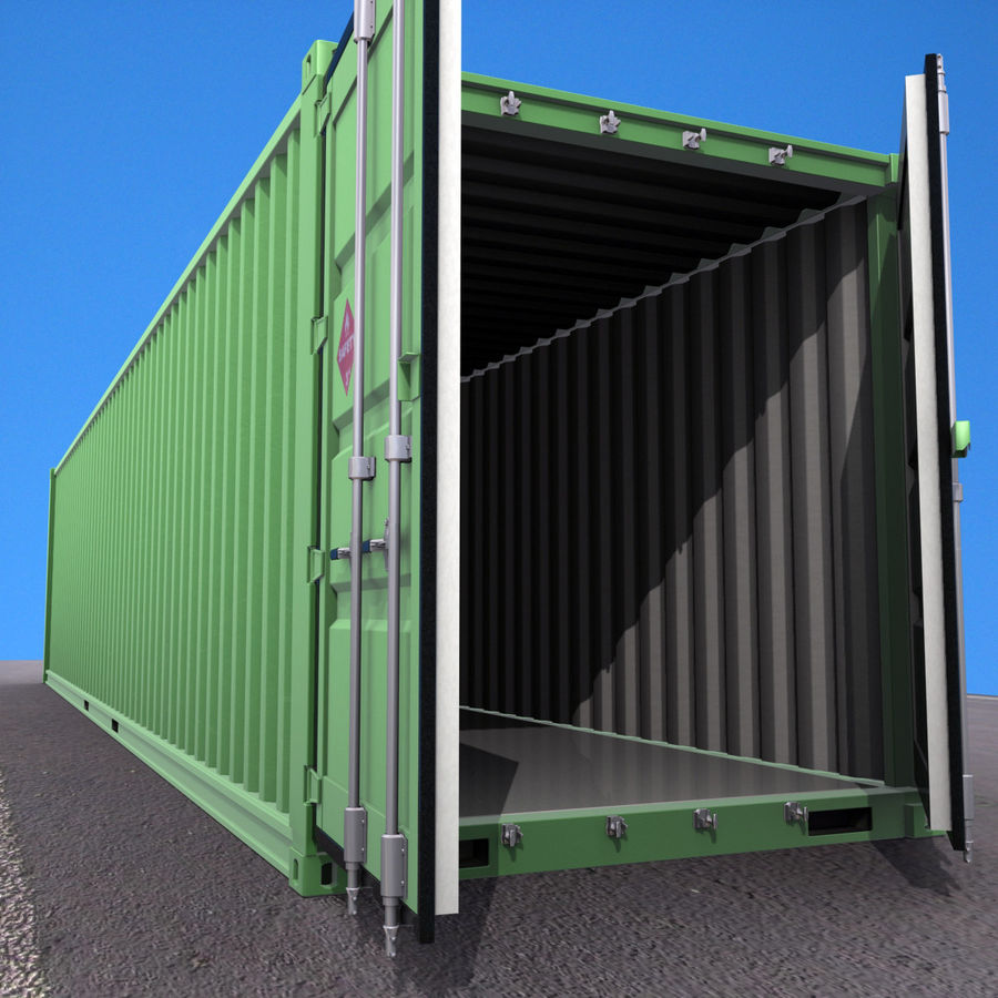 40 Feet Container royalty-free 3d model - Preview no. 10