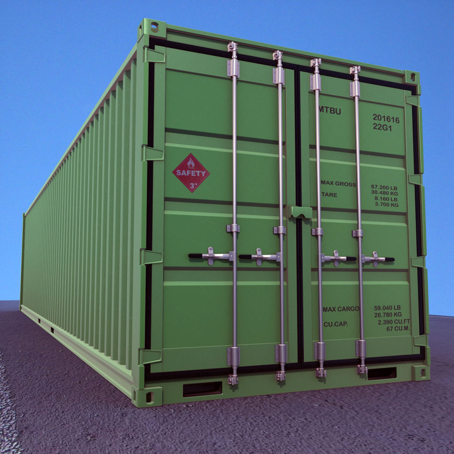 40 Feet Container royalty-free 3d model - Preview no. 8