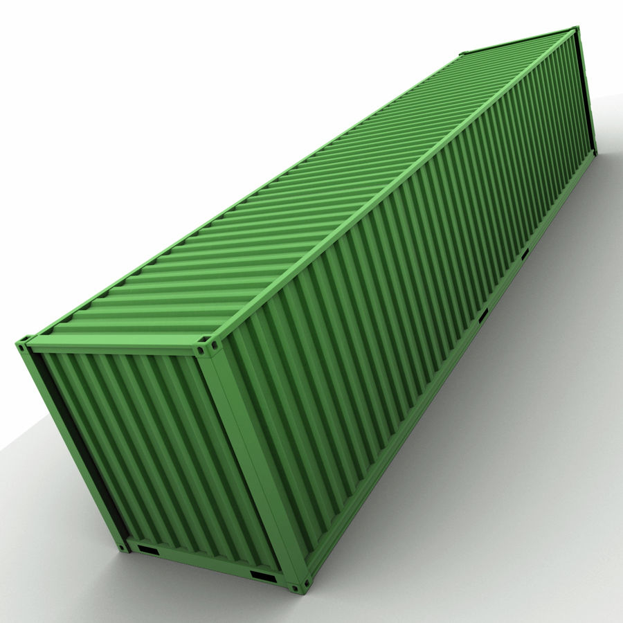40 Feet Container royalty-free 3d model - Preview no. 6