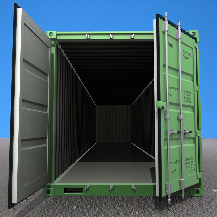 40 Feet Container royalty-free 3d model - Preview no. 11