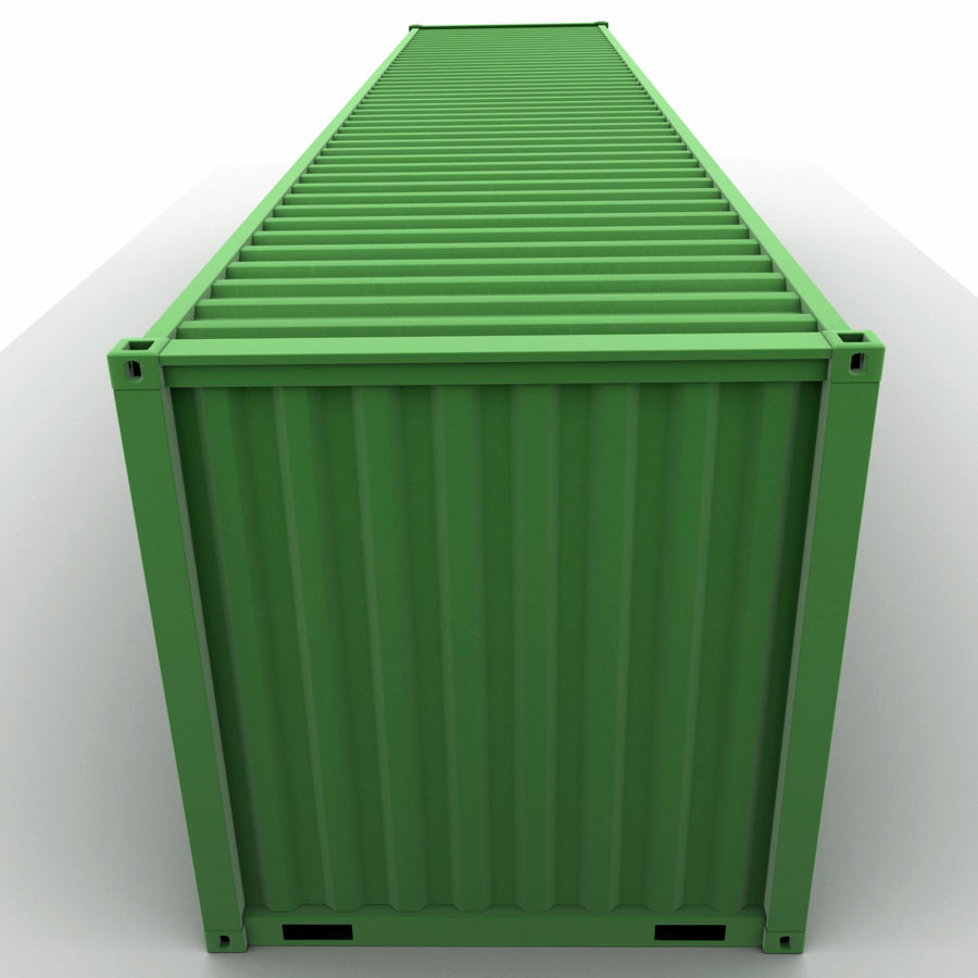 40 Feet Container royalty-free 3d model - Preview no. 7