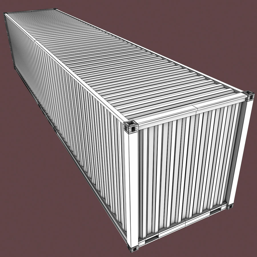 40 Feet Container royalty-free 3d model - Preview no. 14