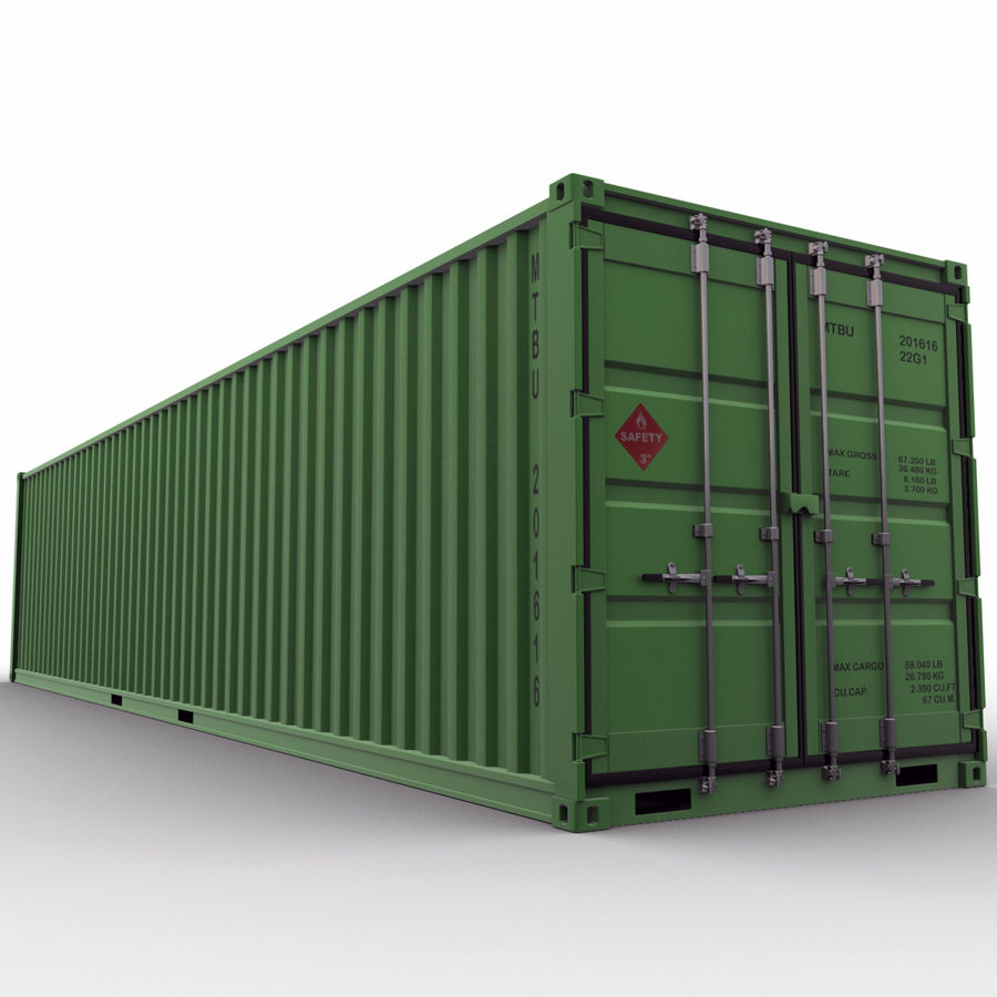 40 Feet Container royalty-free 3d model - Preview no. 3