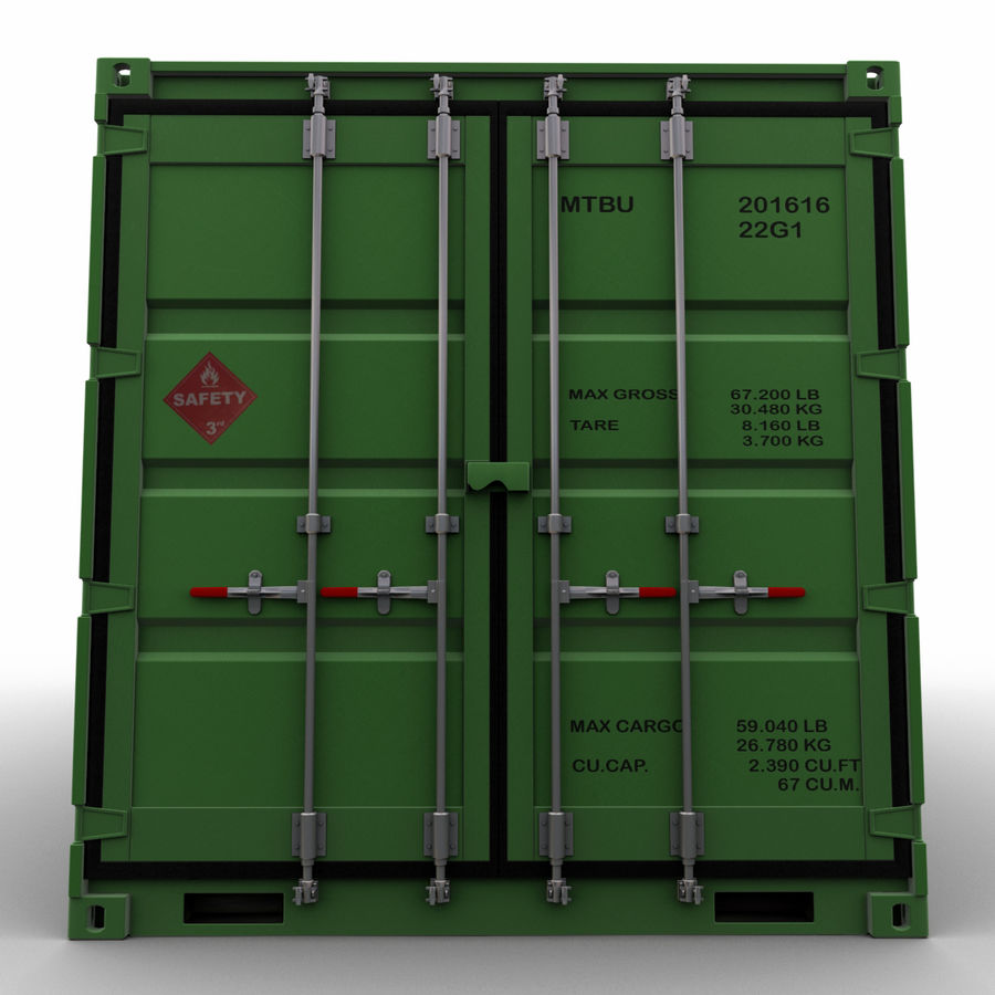 40 Feet Container royalty-free 3d model - Preview no. 4