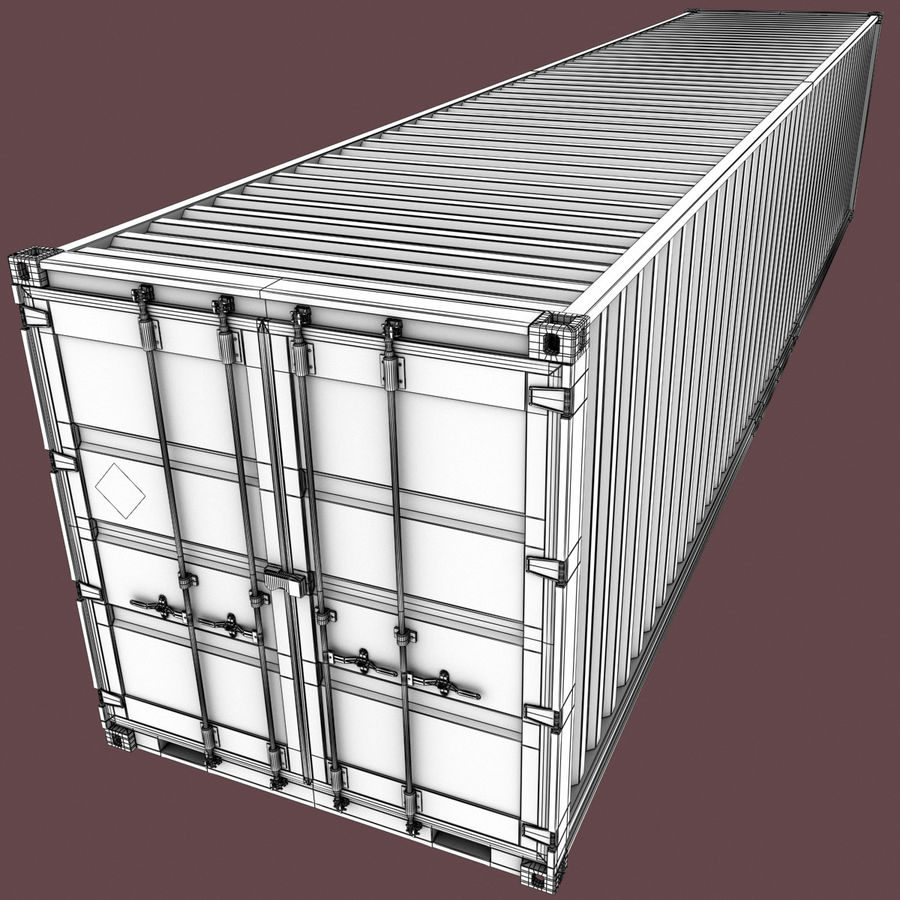40 Feet Container royalty-free 3d model - Preview no. 13
