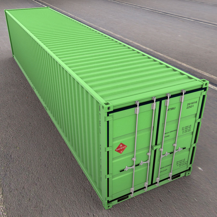 40 Feet Container royalty-free 3d model - Preview no. 2