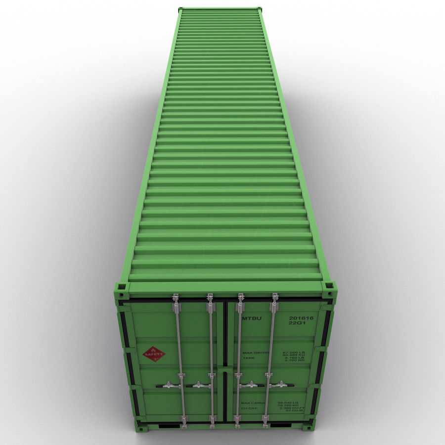 40 Feet Container royalty-free 3d model - Preview no. 5