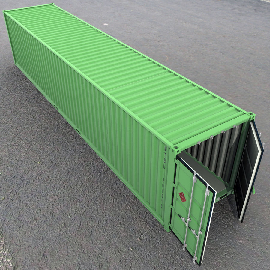 40 Feet Container royalty-free 3d model - Preview no. 9