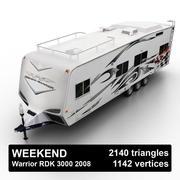 Toy Hauler Semi-Trailer 3d model