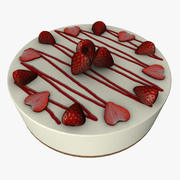 Cheesecake de morango 3d model