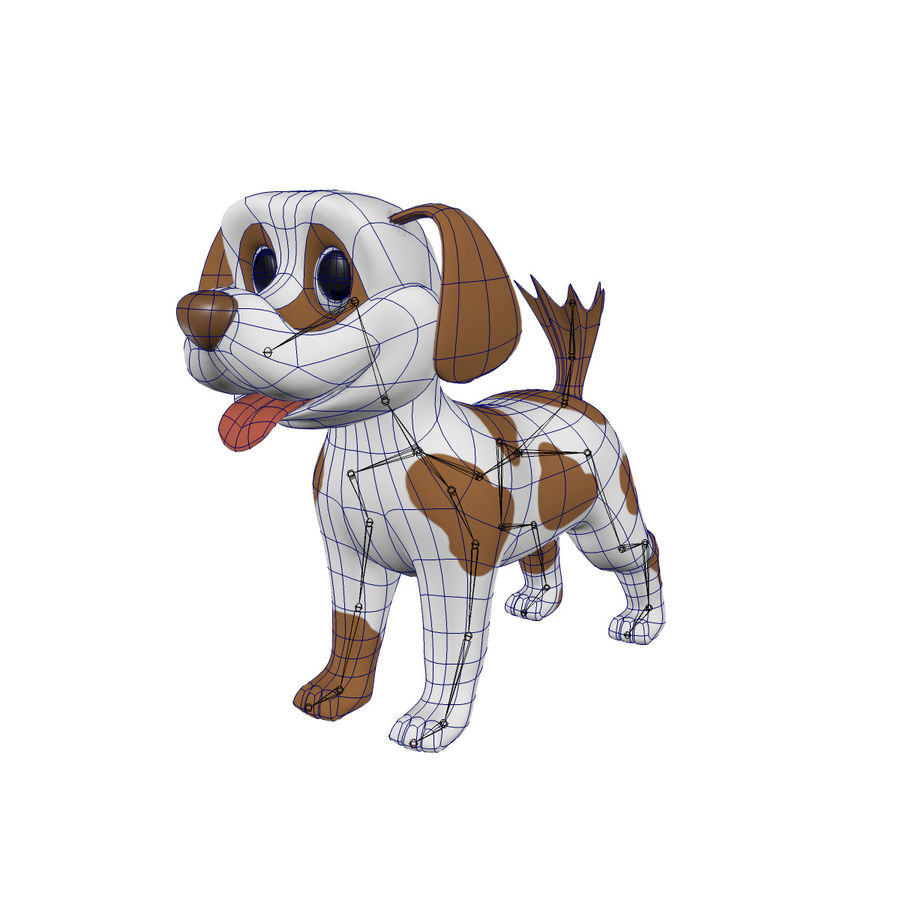 Dog Cartoon Rigged royalty-free 3d model - Preview no. 6