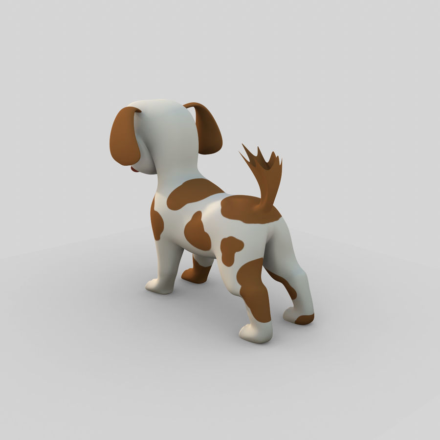 Dog Cartoon Rigged royalty-free 3d model - Preview no. 5