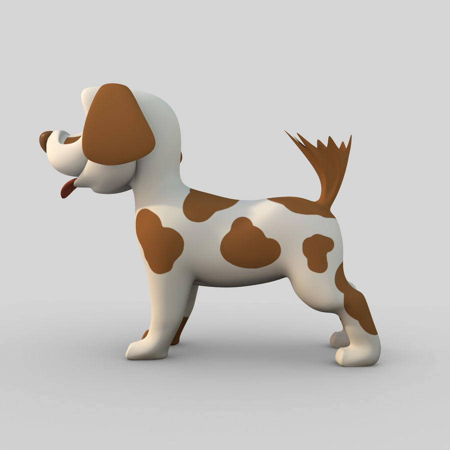 Dog Cartoon Rigged royalty-free 3d model - Preview no. 4