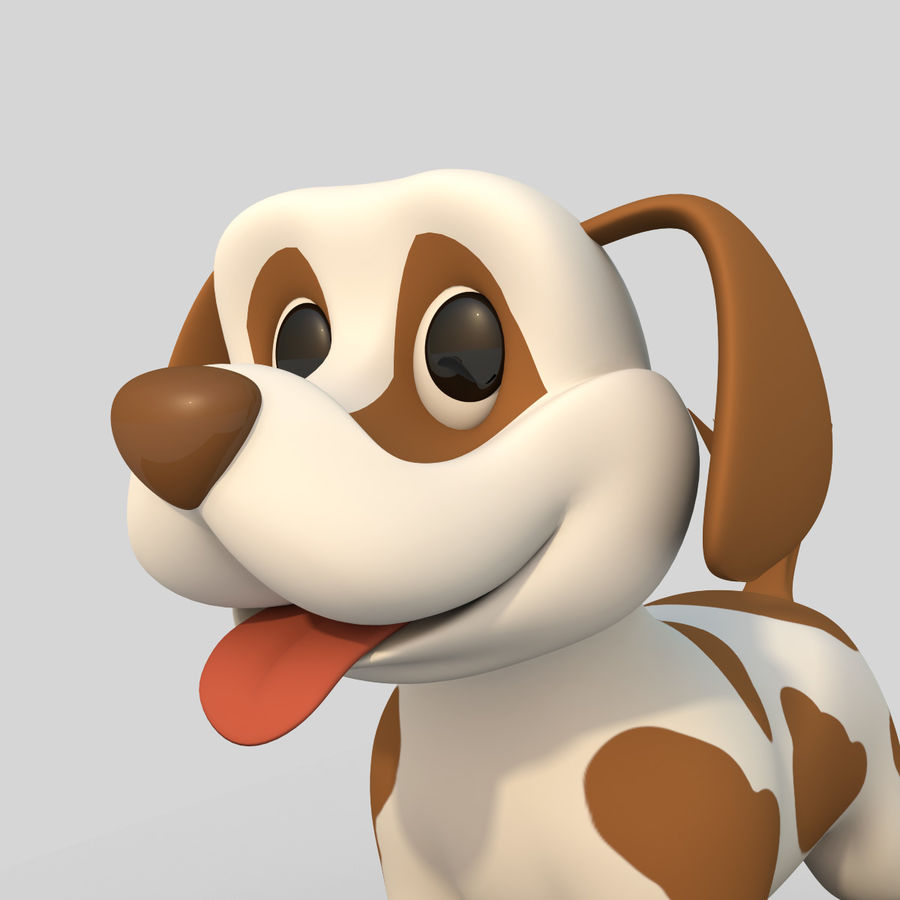 Dog Cartoon Rigged royalty-free 3d model - Preview no. 2
