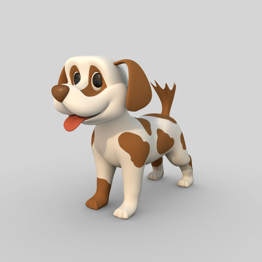 Dog Cartoon Rigged royalty-free 3d model - Preview no. 1