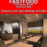 레스토랑 패스트 푸드 3d model