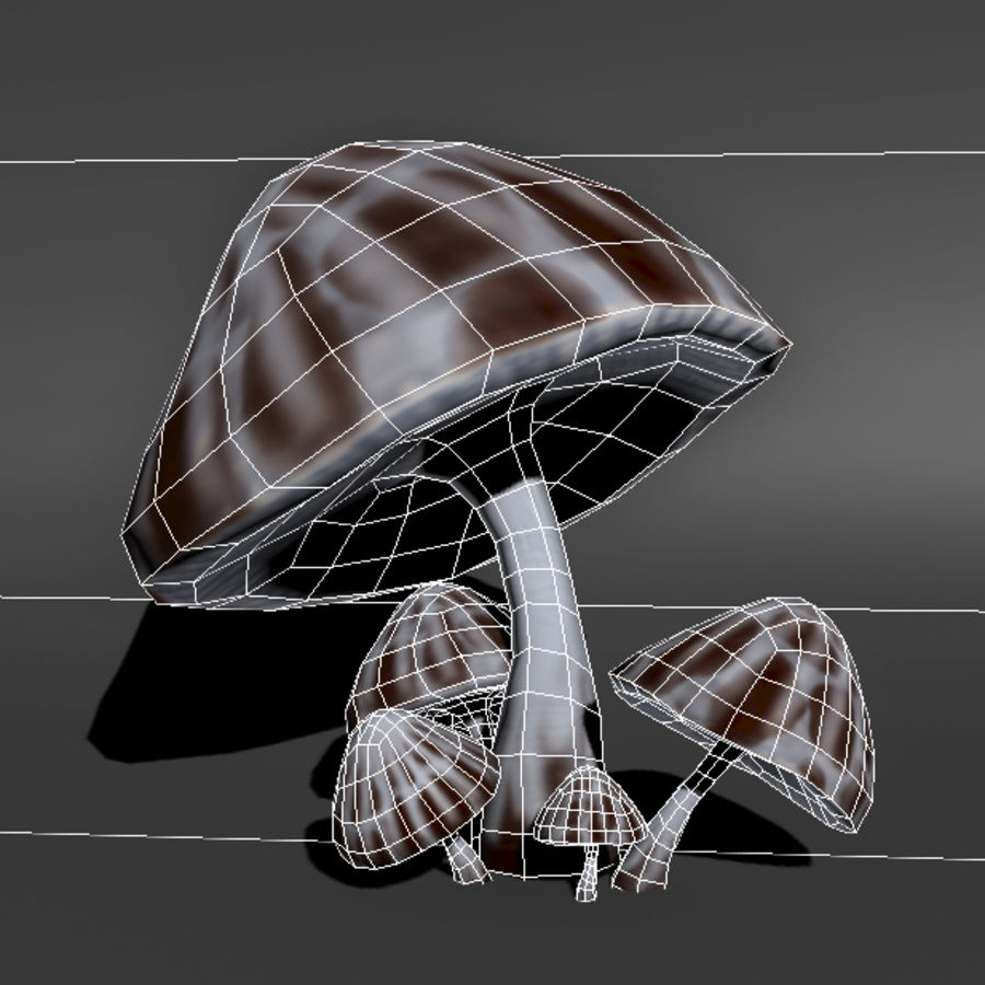 Mushroom Forest Pack royalty-free 3d model - Preview no. 15