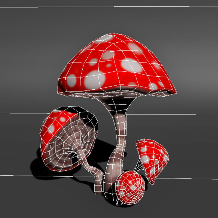 Mushroom Forest Pack royalty-free 3d model - Preview no. 9