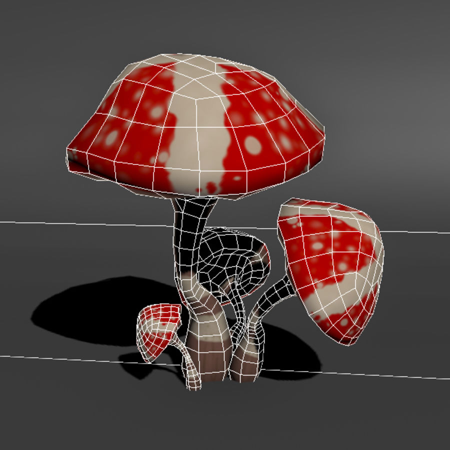 Mushroom Forest Pack royalty-free 3d model - Preview no. 5