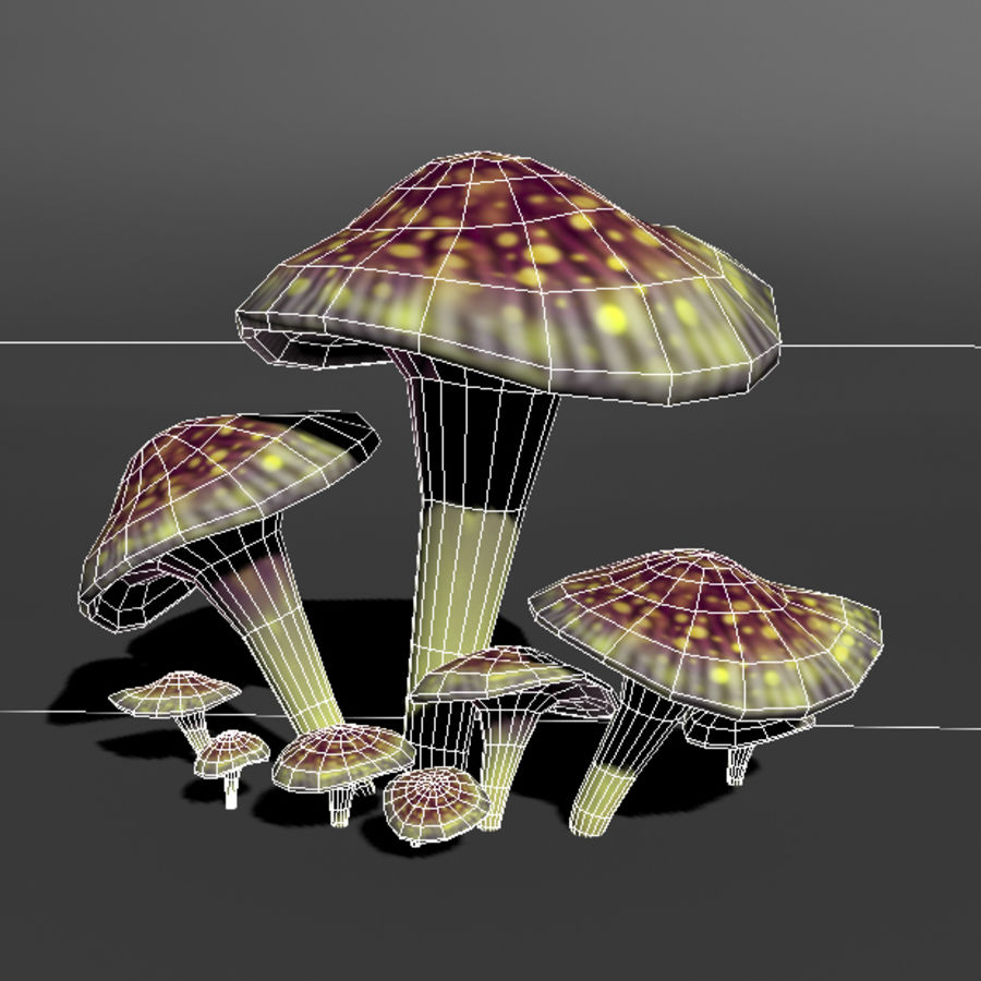 Mushroom Forest Pack royalty-free 3d model - Preview no. 20
