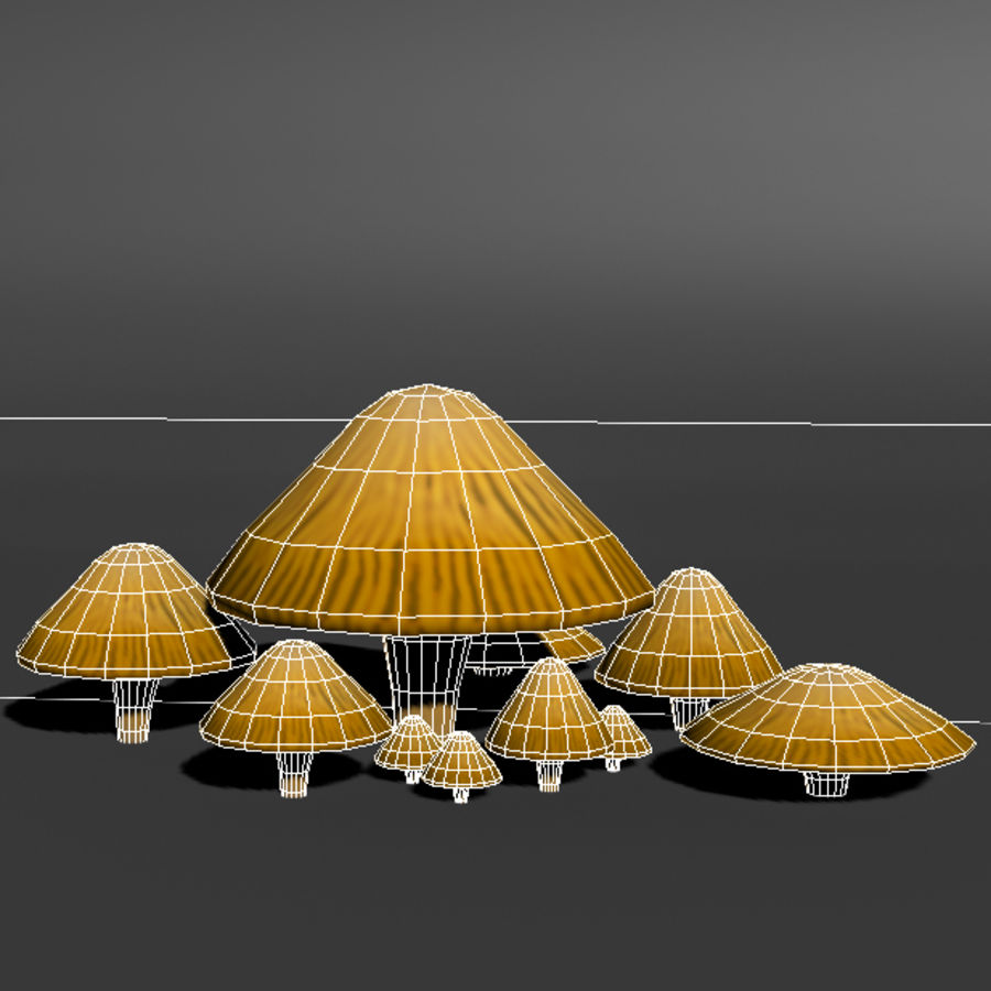 Mushroom Forest Pack royalty-free 3d model - Preview no. 17