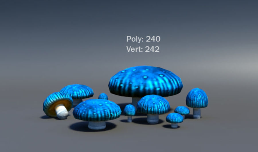 Mushroom Forest Pack royalty-free 3d model - Preview no. 23