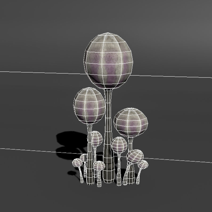 Mushroom Forest Pack royalty-free 3d model - Preview no. 26