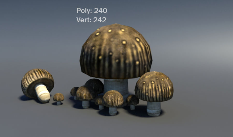 Mushroom Forest Pack royalty-free 3d model - Preview no. 21