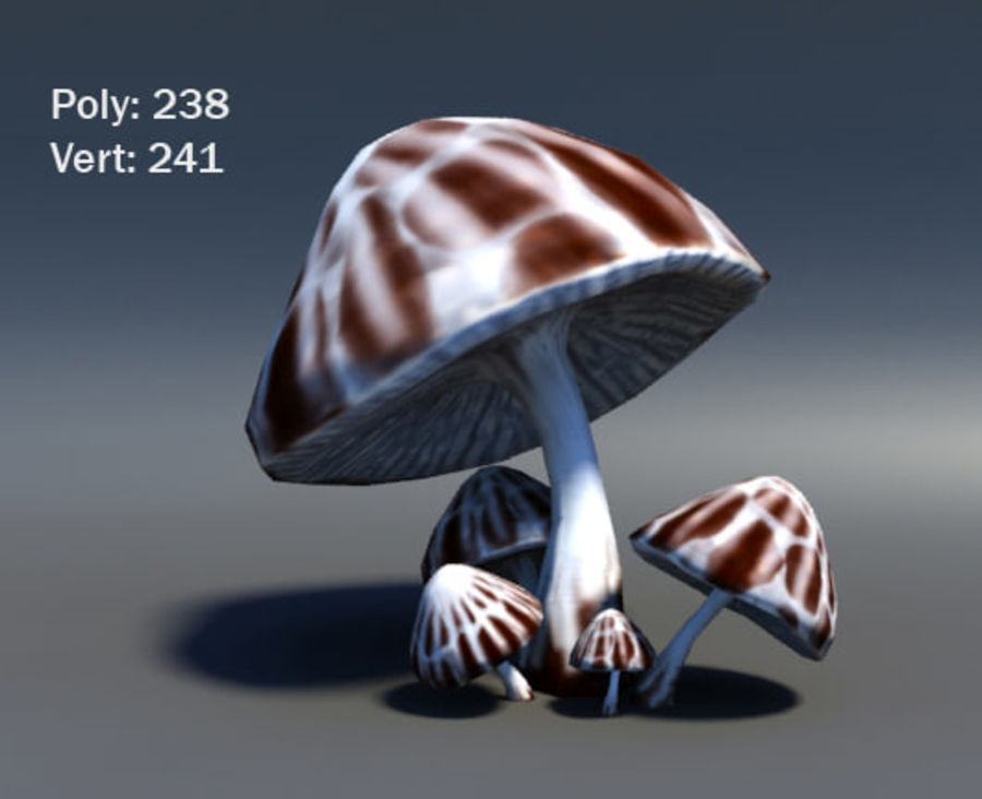 Mushroom Forest Pack royalty-free 3d model - Preview no. 14