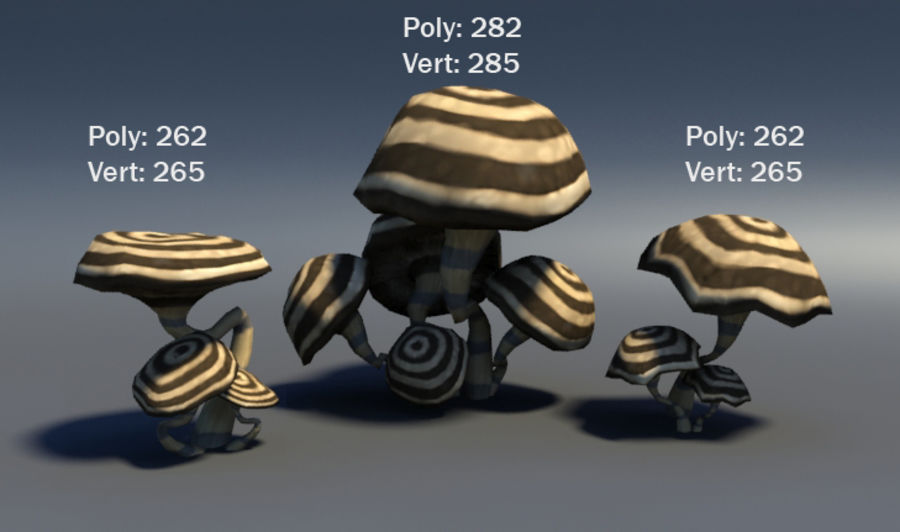 Mushroom Forest Pack royalty-free 3d model - Preview no. 2