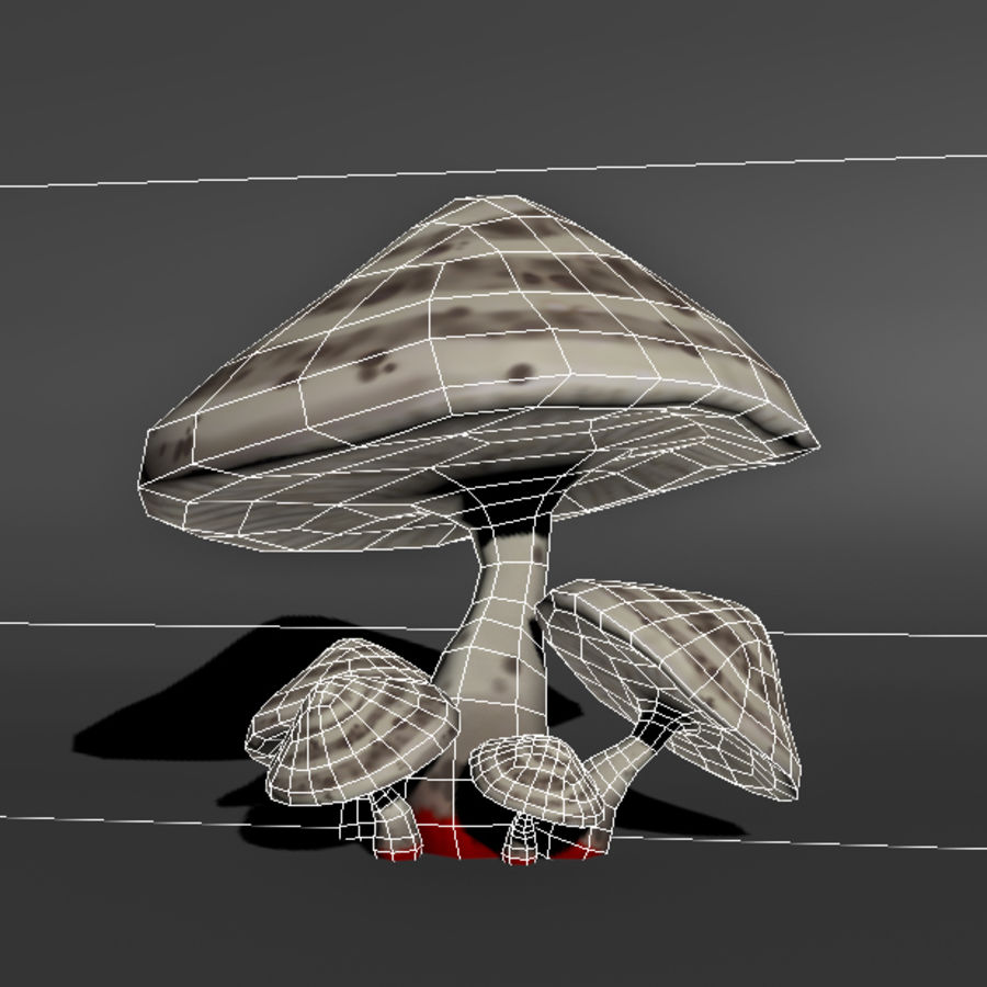 Mushroom Forest Pack royalty-free 3d model - Preview no. 13