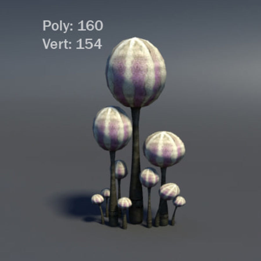 Mushroom Forest Pack royalty-free 3d model - Preview no. 25
