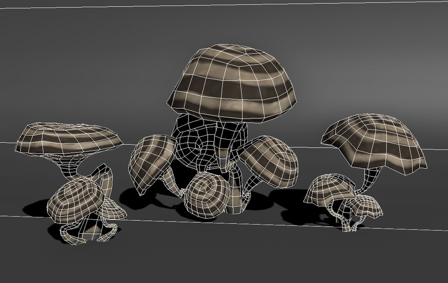 Mushroom Forest Pack 3D Model $81 -  unknown  max  3ds  obj