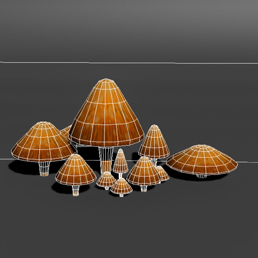 Mushroom Forest Pack royalty-free 3d model - Preview no. 19