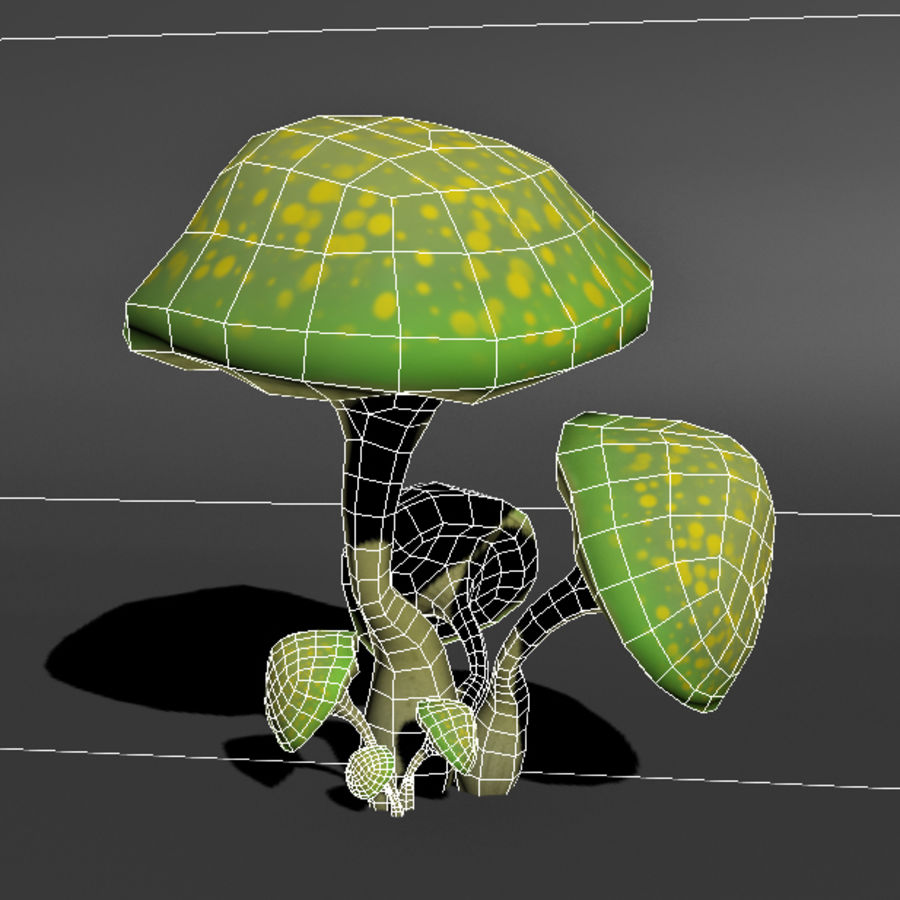 Mushroom Forest Pack royalty-free 3d model - Preview no. 7