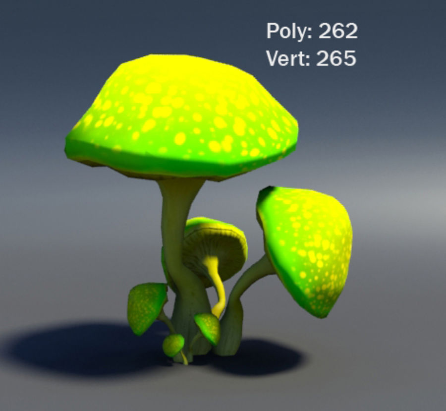 Mushroom Forest Pack royalty-free 3d model - Preview no. 6