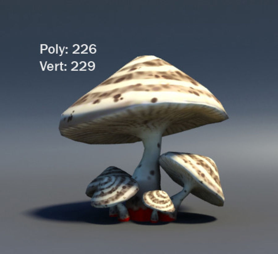 Mushroom Forest Pack royalty-free 3d model - Preview no. 12