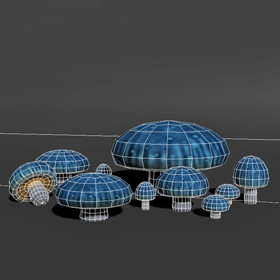 Mushroom Forest Pack royalty-free 3d model - Preview no. 24