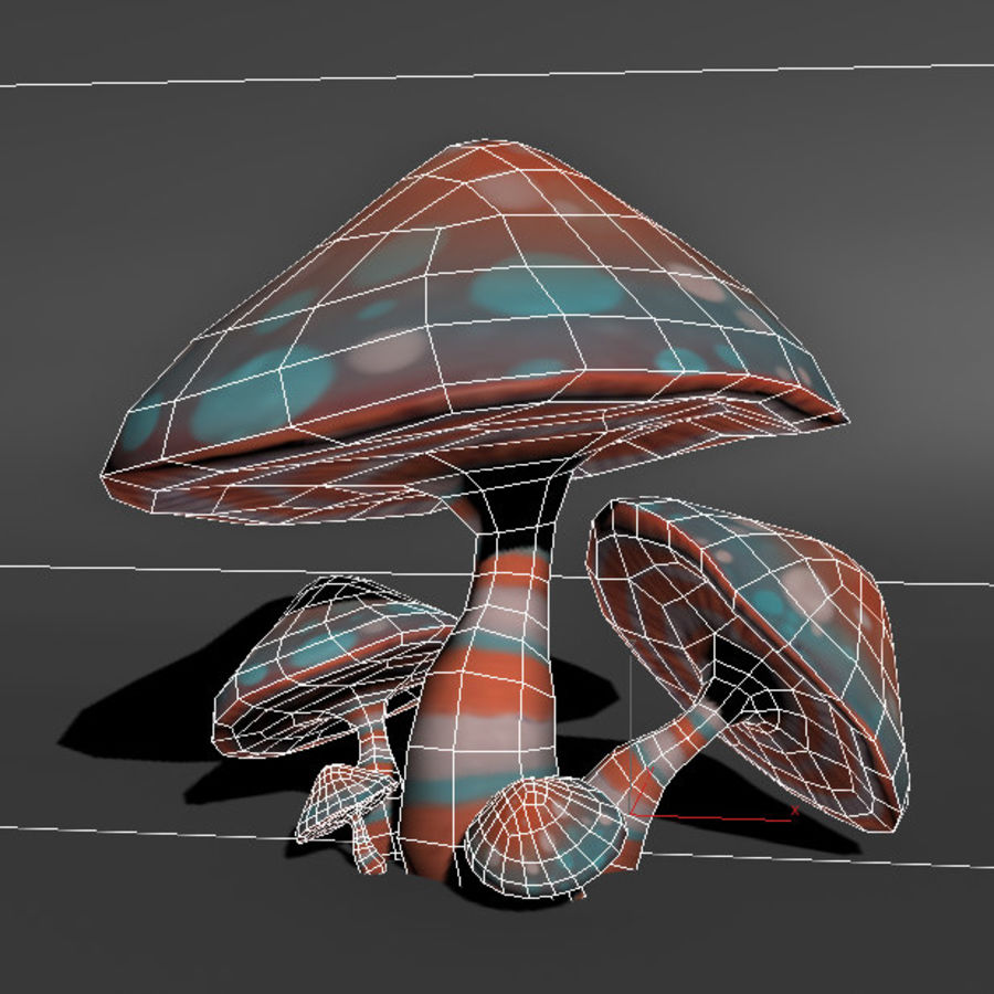 Mushroom Forest Pack royalty-free 3d model - Preview no. 11