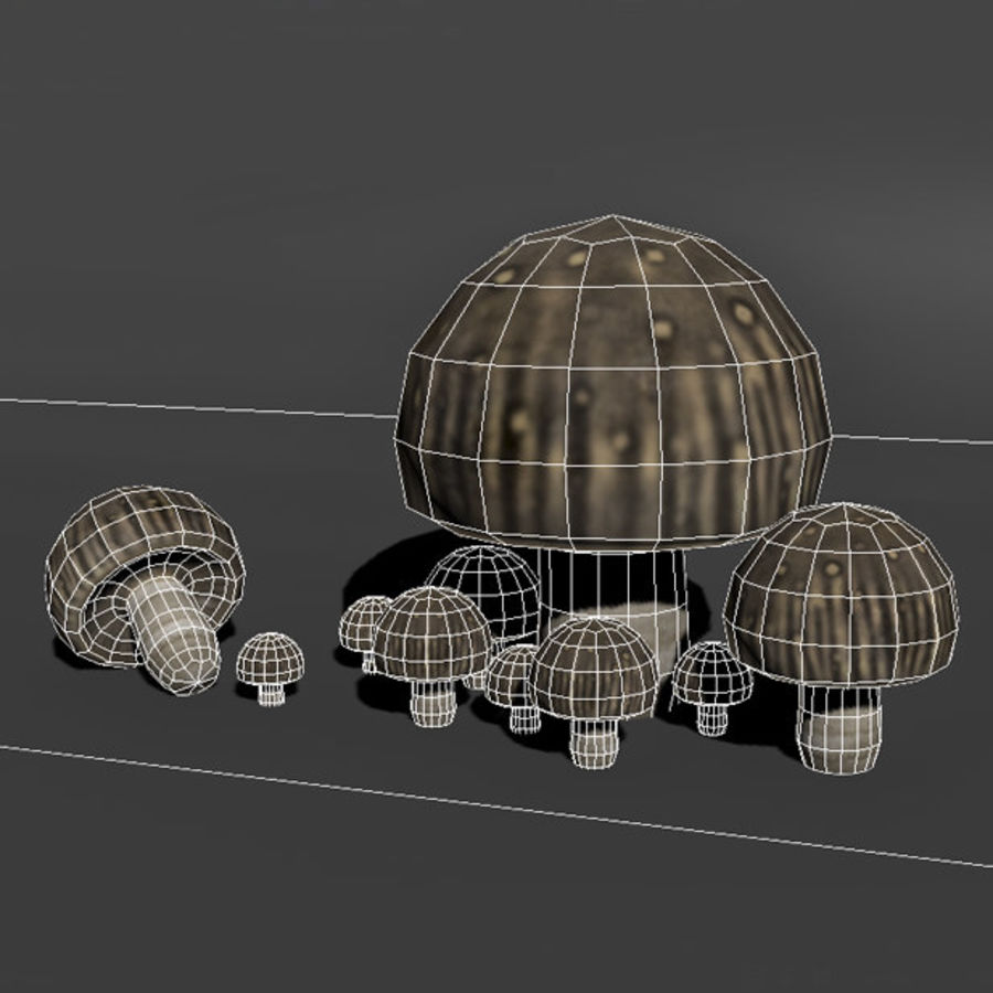 Mushroom Forest Pack royalty-free 3d model - Preview no. 22