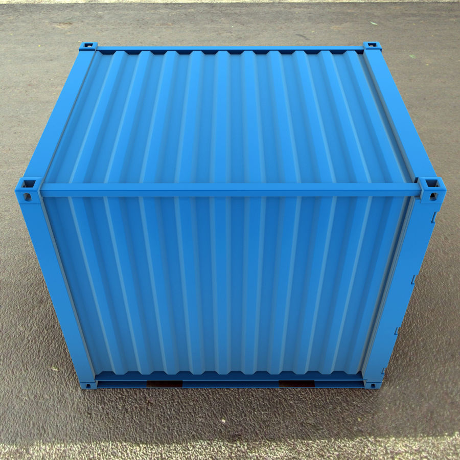 10_ft Container royalty-free 3d model - Preview no. 6