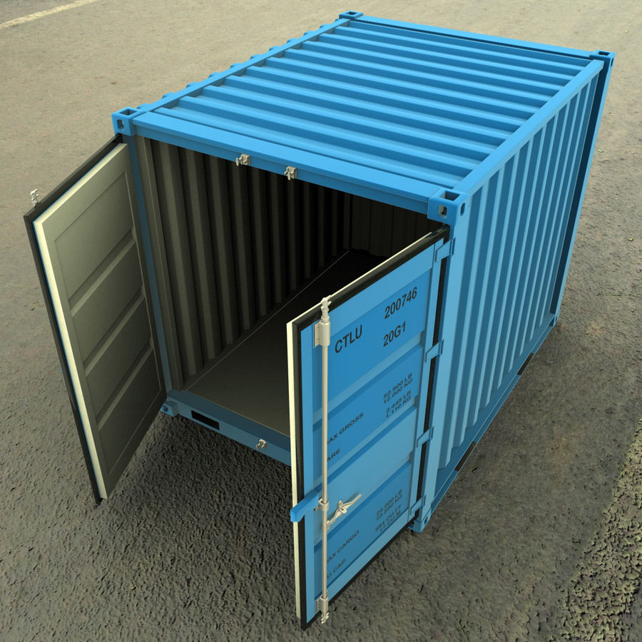 10_ft Container royalty-free 3d model - Preview no. 7