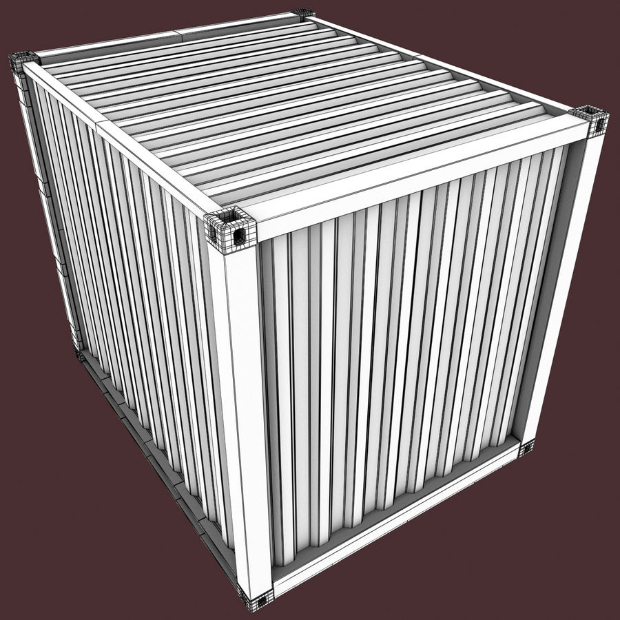 10_ft Container royalty-free 3d model - Preview no. 11