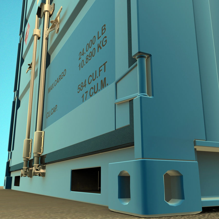 10_ft Container royalty-free 3d model - Preview no. 8