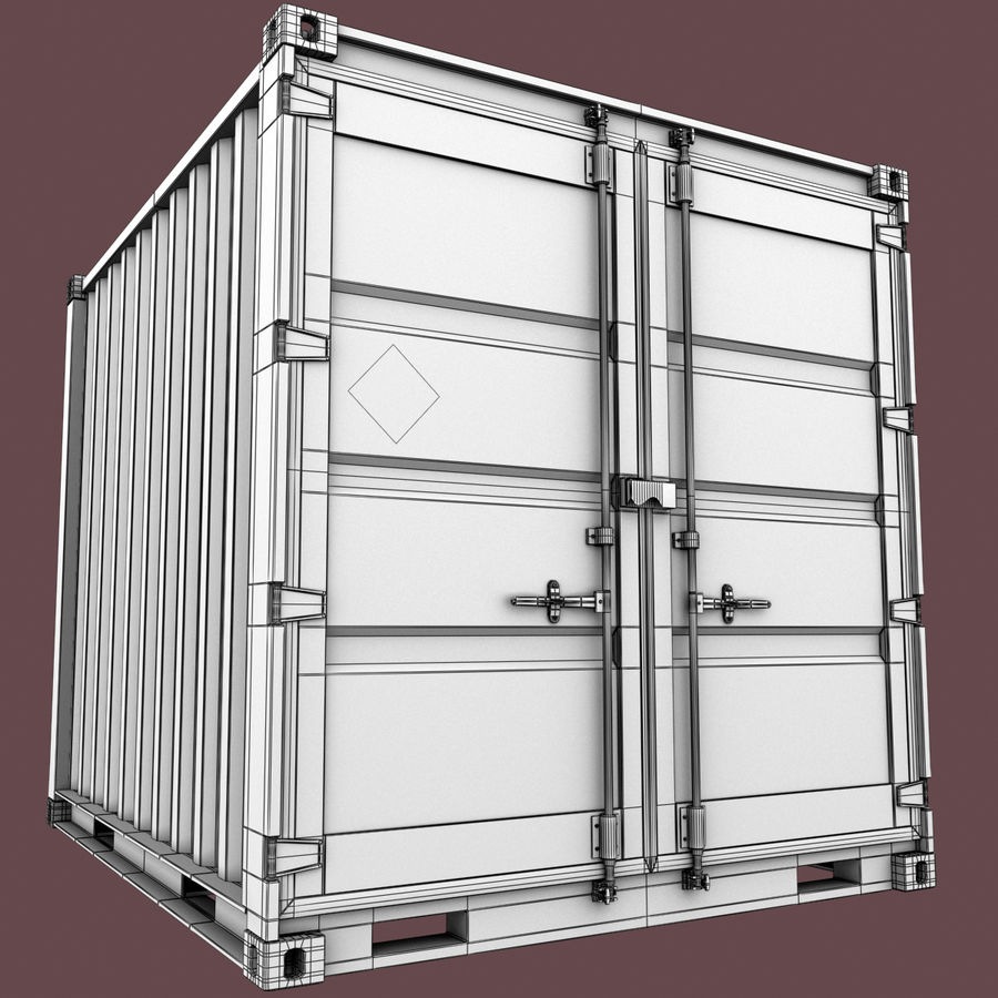10_ft Container royalty-free 3d model - Preview no. 10