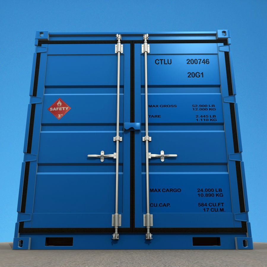 10_ft Container royalty-free 3d model - Preview no. 3